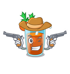 Cowboy character healthy carrot smoothie for diet vector