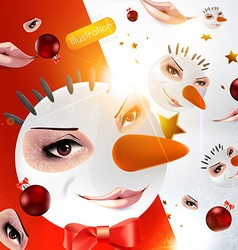 Creepy face background vector