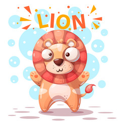 cute lion character - cartoon vector image