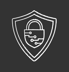 Cybersecurity chalk icon vector