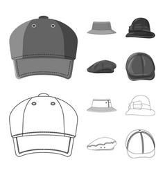 Design headgear and cap logo collection vector