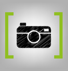 digital photo camera sign black scribble vector image