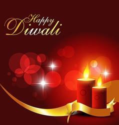 Diwali candles vector