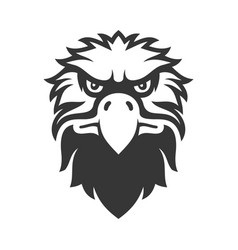 eagle face icon bird logo on white background vector image