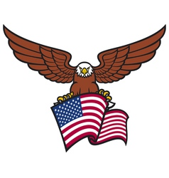 eagle with USA flag vector image