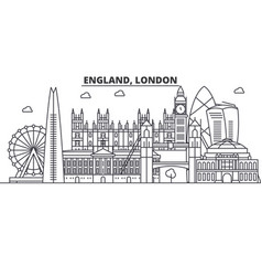 England london architecture line skyline vector