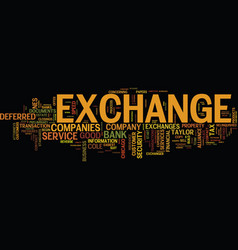 Exchange companies text background word cloud vector