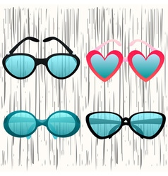 Fashion glasses set 2 vector image
