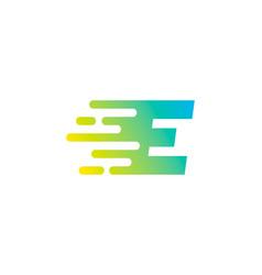 fast letter e logo icon design vector image