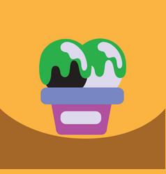 flat icon design collection ice cream vector image