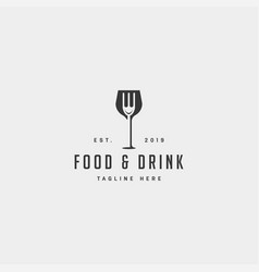 food and drink simple flat logo design icon vector image