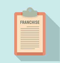 Franchise description icon flat style vector