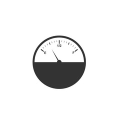 fuel gauge icon isolated full tank flat design vector image