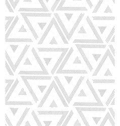 geometric seamless dots pattern vector image
