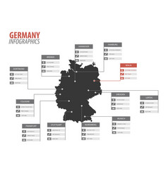 Germany map shape infographics vector