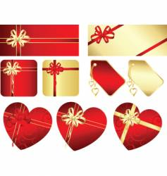 gifts and labels vector image