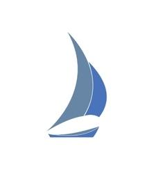 Gray-blue yacht logo for sailing vector