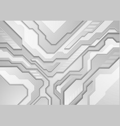 grey abstract modern technology background vector image