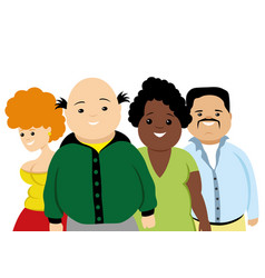 Group of obese people vector