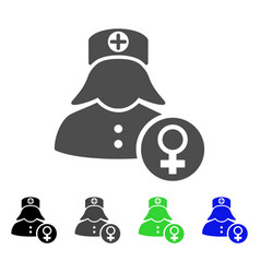 gynecology lady doctor icon vector image