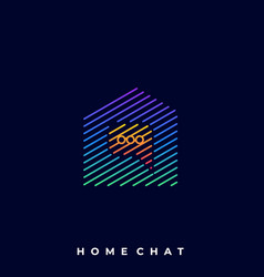 home chat template vector image