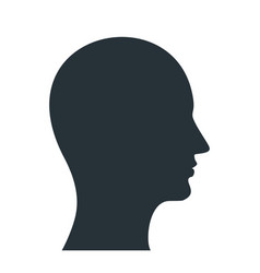 human profile black icon vector image