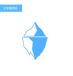 Ice berg icon iceberg logo vector