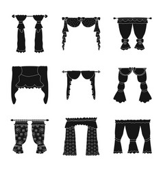 Isolated object garter and blinds logo set of vector
