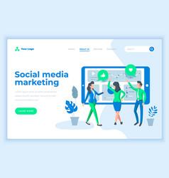 landing page template social media marketing vector image