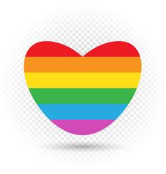 lgbt rainbow heart symbol vector image