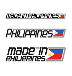made in philippines vector image
