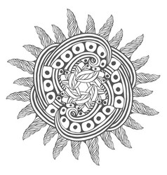Magic zentangle art for coloring book pages vector