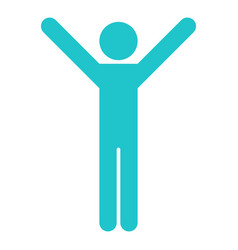 man sign raised hands vector image