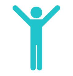 Man sign raised hands vector