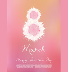 march 8 international women s day greeting vector image