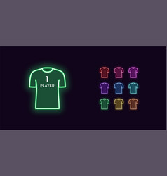 Neon t-shirt icon player or gamer sport shirt vector