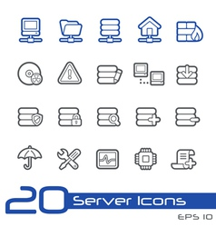 Network and Server Outline Series vector image