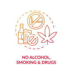 No alcohol smoking and drugs concept icon vector