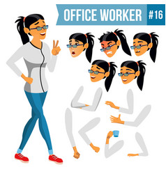 Office worker woman modern employee vector