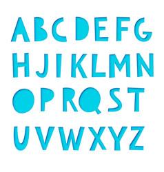 paper cut font vector image