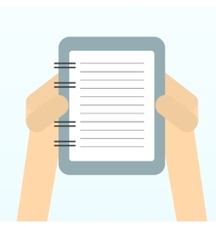 Paper sheet hands vector