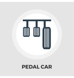 Pedal car icon flat vector