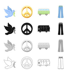 pigeons symbol world and other web icon in vector image