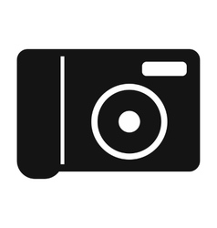 Portable camera simple icon vector
