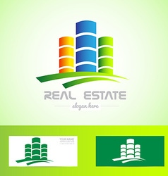 Real estate tower logo vector