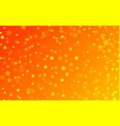 Red gradient background of spangled yellow stars vector