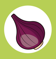 Red onion healthy fresh image vector