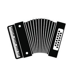 Retro accordion icon vector image