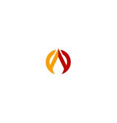 round abstract triangle company logo vector image