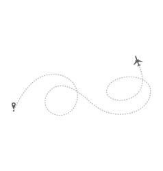 route plane vector image